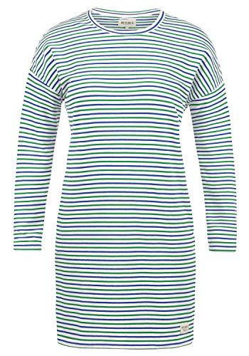 DESIRES Helena Sweatkleid Sommerkleid Kleid Mit Streifen-Optik Und Rundhals Aus Stretch-Material, Größe:XL, Farbe:Jelly Bean (3299)