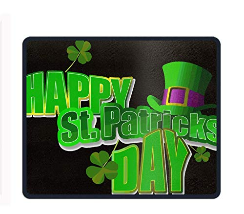 Holiday St. Patricks Day Hat Clover 8.66 X 7.09 Inch Computer Mouse Pad with Neoprene Backing and Jersey Surface