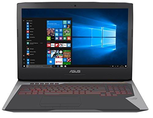 """ASUS G752VS-GC310T - Ordenador Portátil de 17.3"""" Full HD (Intel Core i7-7700HQ , 16 GB RAM, 1 TB HDD + 256 GB SSD, Nvidia GeForce GTX 1070 de 8 GB, Windows 10 Home) Gris - Teclado QWERTY Esp"""