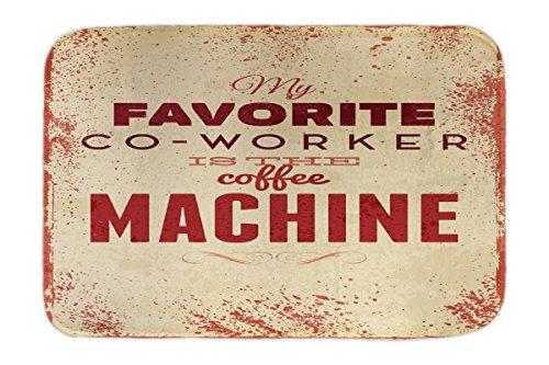 LEotiE SINCE 2004 Fuß Hunde Matte Bett Kaffee Cafe Bar Kaffemaschine Bedruckt 40x60 cm