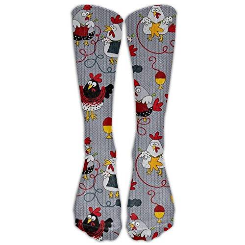 Grey Knee High Graduated Compression Socks For Women And Men - Best Medical, Nursing, Travel & Flight Socks - Running & Fitness ()