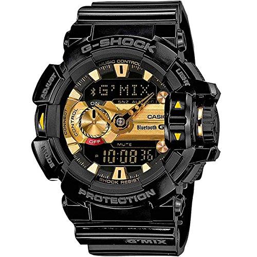 Montre Casio G-Shock Bluetooth Noire & Doré Homme GBA-400-1A9ER