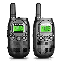 BOIROS Walkie Talkies for Kids - 22 Channel 2 Way Radio 3 Mile Long Range, Kids Walkie Talkies with Backlit LCD Flashlight, for Outdoor Adventure Game
