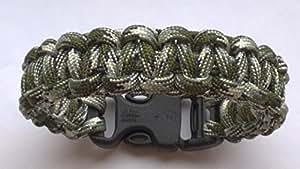 17.78 cm Sibirischer Wolf Camo Cobra Motiv Paracord 550 Armband Survival/Wristband. handgefertigt In Norfolk. K U.