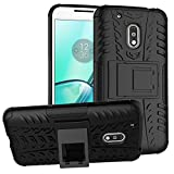 Motorola Moto G4 Play Custodia , Anzhao Duro Shock Proof copertura Rugged Heavy Duty Antiurto in Piedi Custodia caso Case per Motorola Moto G4 Play (Nero)