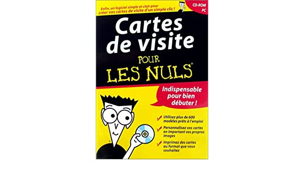 Cartes De Visite Pour Les Nuls Amazonfr Logiciels