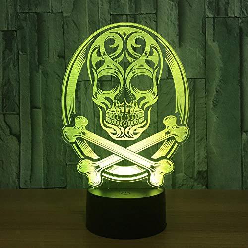 Schädel 3D Led Lampe Atmosphäre Nachtlichter Led Lampe Sensor Halloween Thema Party Wohnzimmer Schlafzimmer Tisch Schreibtisch Dekor Drop Ship (Fußball-party-thema Dekor)
