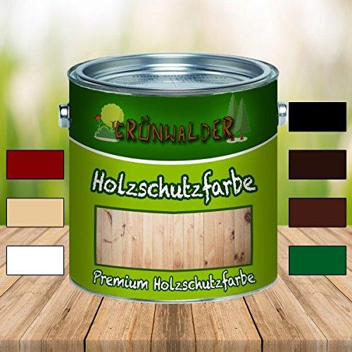 Grünwalder Wetterschutzfarbe premium Holzschutzfarbehochdeckende Holz-Farbe
