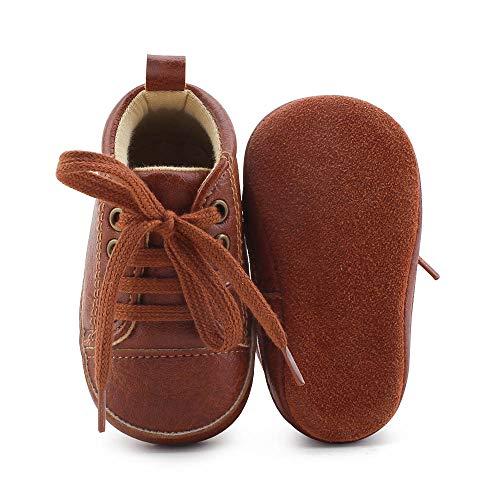 (DELEBAO Babyschuhe Krabbelschuhe Lederschuhe Leder Baby Schuhe Lauflernschuhe Lederpuschen Weicher und Rutschfester Sohle für Kleinkind)