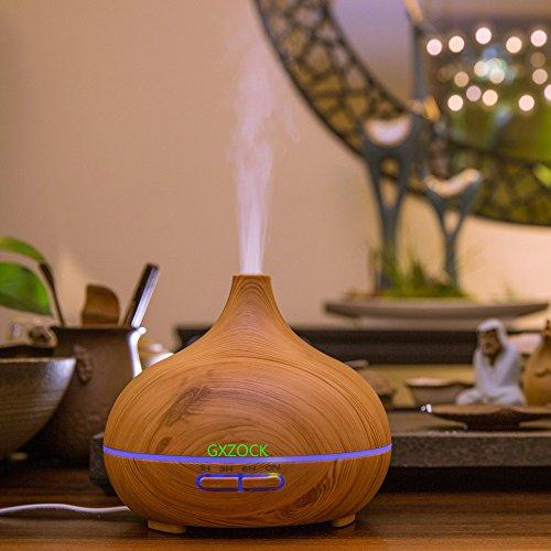 Preisvergleich Produktbild 300ml Luftbefeuchter Ultraschall Bambus Ätherisches Öl Aroma Diffusor BPA-freier Luftbefeuchter Ätherisches Öl Aroma Diffusor Für Zu Hause Baby Büro