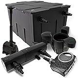 Set: Filtro stagno 60000l SuperEco 80W Pompa 18W UVC pompa per fontana Skimmer