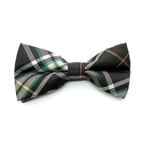 1 Fliege Schleife Verstellbar Kariert Karo Muster Gebunden Herren Anzug Hemd Hochzeit Business Krawatte Schlips Rot Grün, Modell:Modell (Herren Anzug Grünen)