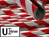 10 METER ZIERLEISTE - U Profil - Keder ROT-WEISS Kantenschutz Universal AUTO TUNING DEKO