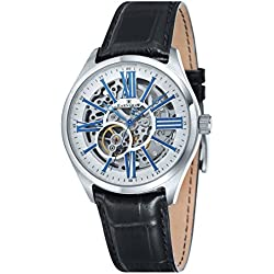 Thomas Earnshaw Men's Armagh Skeleton Automatic Watch with White Dial Analogue Display and Black Leather Strap ES-8037-02