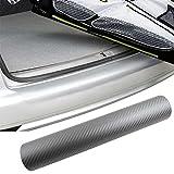 PREMIUM Ladekantenschutz-Folie Lack Schutz Kratzer Carbon Grau viele Fahrzeuge