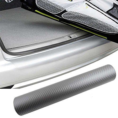 Preisvergleich Produktbild PREMIUM Ladekantenschutz-Folie Lack Schutz Kratzer Carbon Grau viele Fahrzeuge