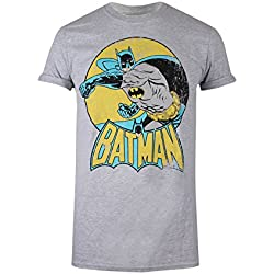 DC Comics Batman Retro, Camiseta para Mujer, Gris (Sports Grey SPO) 38(Tamaño Fabricante: Small)