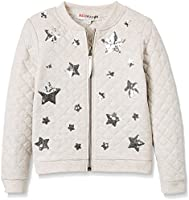 RED WAGON Girl's Star Jersey Bomber, Silver (Silver Grey), 4 Years