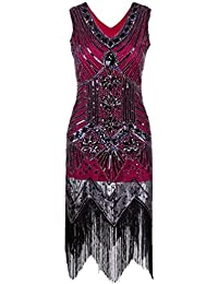 Ghope Femmes 1920 Vintage Sparkly Art Déco Paillette Inspiré Robe Gatsby le Magnifique