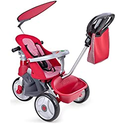 FEBER Baby Trike Easy Evolution, Triciclo Color Rojo 24.9 x 14.0 x 11.9 Famosa 800009473