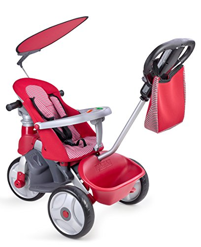 Feber - Baby Trike Easy Evolution, triciclo, color rojo (Famosa 800009473)