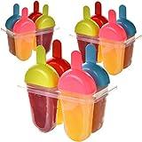 Hausfelder Eisformen (12er Set) Eis am Stiel, BPA-FREI, die Form um Stieleis einfach selber zu machen