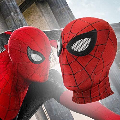 Maske Spiderman Kostüm Neues - SONG Neue Halloween Maske Masken Spiderman Peter Parker Kostüm Stealth Halloween Masken Erwachsene Männer Abnehmbare Brille,Red