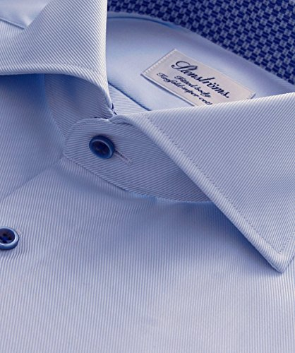 Stenstroms Hommes chemise simple Bleu Bleu