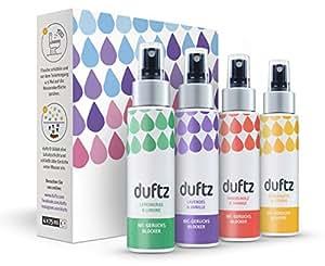 duftz® Bundle 4 Sorten WC Geruchsblocker für den Toilettengang, Mindestens 400