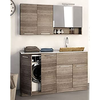 Mobile lavanderia porta lavatrice e - Mobile contenitore lavatrice ...