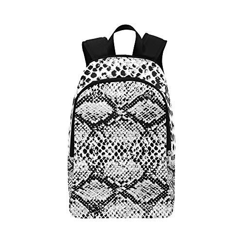 Unterschiedlicher Schlangenhaut-beiläufiger Daypack-Reisetasche College School-Rucksack für Männer und Frauen - Papier Distress
