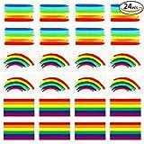 Tacobear Tacobear Gay Pride Regenbogen Aufkleber Temporäre Tattoos Regenbogen Flagge Aufkleber Abnehmbare Wasserdichte Körper Regenbogen Temporäre Tattoos (Rainbow)