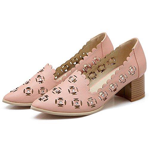 Escarpins Talons pink Bloc TAOFFEN Femmes 5twqOaRx