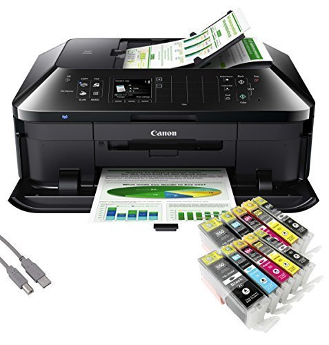 Canon PIXMA MX925 All-in-One SingleInk-Multifunktionsgerät USB/WLAN/LAN/Apple AirPrint (Drucker, Scanner, Kopierer und Fax) + USB Kabel & 10 YouPrint Tintenpatronen (Originalpatronen ausdrücklich nicht im Lieferumfang) (Pixma Usb-drucker Canon)