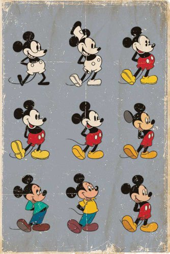 empireposter - Disney - Mickey Mouse Evolution - Größe (cm), ca. 61x91,5 - Poster, NEU -