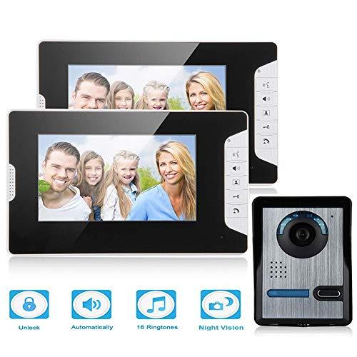 """Sonnette vidéo, 7"""" Porte vidéo TFT LCD écran, téléphone débloquer, IR Night Vision, sécurité à la Maison,étanche, à la Pluie,Video Interphone,Moniteur Intérieur Maison Surveillance"""