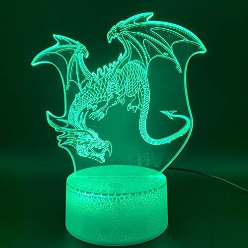 3D cool Park Dinosaurier Junge Geschenk Raubvogel Nachtlicht Led7 Farbe Touch Fernbedienung USB Weihnachten Halloween Geburtstagsgeschenk Schlafzimmer Nachtlicht Augenschutz Modus ## 5