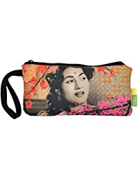Eco Corner - Madhubala - Pouch - Small - 100% Cotton/Washable/Printed On Both Sides/Zip Closure With Carry Handle...