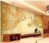 Chlwx 3d tapete 3D Wallpaper Murals Benutzerdefinierte Tv Mauer Europa Typ Wiederherstellen Der Alten Wege Der Weltkarte Wallpaper 300Cmx200Cm