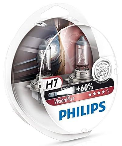 Philips 12972VPS2 VisionPlus +60% H7 Scheinwerferlampe 12972VPS2, 2er