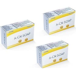 ACN Soap Made From Pure Coconut Oil,75g (Pack of 3) Palikashop