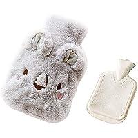 Preisvergleich für Drizzle Wärmflasche Mit Super Weichem Luxuriösem Plüsch-Bezug Tier-Serie 100% Naturkautschuk (Koala gray)