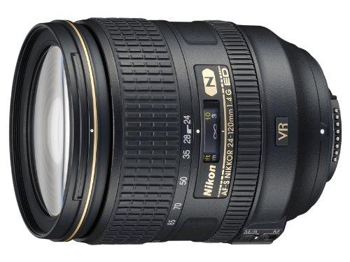 Nikon AF-S 24-120mm F4 ED VR - Objetivo para Nikon (distancia focal 36-180mm, apertura f/4, zoom óptico 5x,estabilizador) color negro - Versión Europea