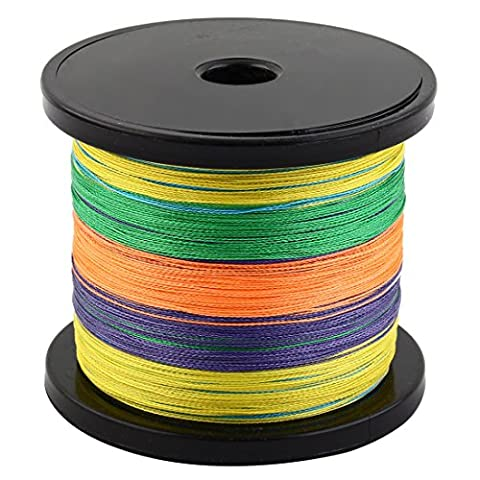 sourcingmap® PE Braided Angler String Spool Anging Wire Reel Fishing Line 1000m Length Colorful