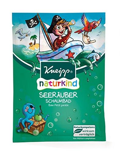 Kneipp Naturkind Schaumbad Seeräuber, 12er Pack (12 x 40 ml) - Apfel Schaumbad