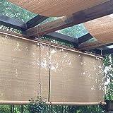 Bambusrollo Premium Rollläden/Jalousien Vorhang - Patio Im Freien Pavillon Pergola Carport Rollo, 60 cm / 80 cm / 100 cm / 120 cm / 140 cm Breite (Size : W 140×H 300cm)