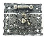 maDDma ® 1 Truhen-Schloss Vintage 55x47mm antikmessing Boxen-Kisten-Schloss Schatzkiste