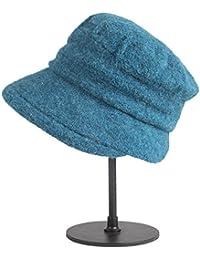 Categoría sombreros de mujer, Otoño/Invierno ajustable nuevo gorro de lana, plegables de gama alta sombreros de mujer,azul
