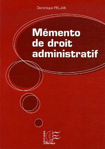 Memento de droit administratif