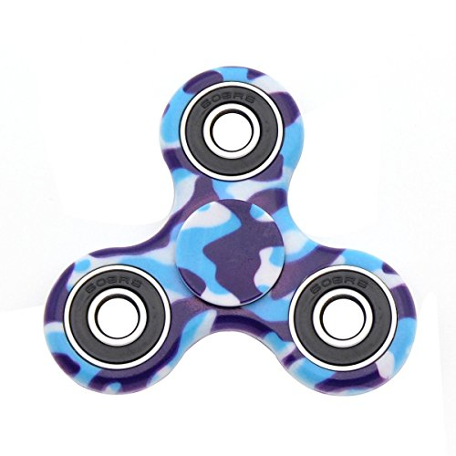 Hand Spinner Toy, Multicolor Camouflage Tri-Spinner Fidget Toy for Stress and Anxiety Relief – EDC Office Toy (C) - 4